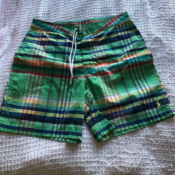 a9f1b82589 Polo by Ralph Lauren Swim   Polo Ralph Lauren Green Trunks Size 35 ...